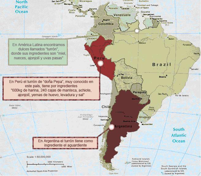 Turrón y América Latina