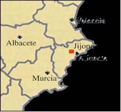 mapa Levante - Jijona