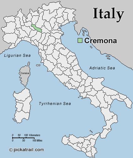 Mapa de Cremona Italia